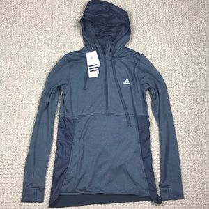 Adidas 1/4 Zip Trans Hoodie Pullover Jacket Small